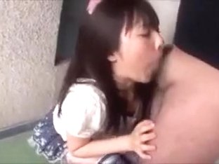 Beautiful japanese girl blowjob and swallow