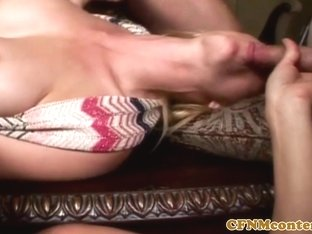 Busty housewife dominates subs with blowjobs