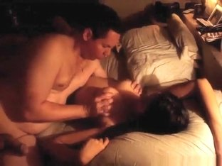 Russian couple doggystyle, cowgirl and missionary sex with ass cumshot in the bedroom.