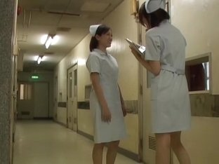 Nasty public sharking video with Asian nurse's panties shown