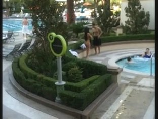 Big beautiful booty at Vegas pool