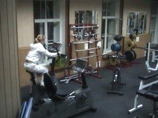 Hidden sex in gym