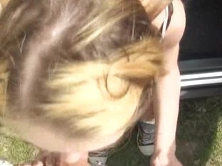 Beatrix Glower takes a lift and gangbanged in public location