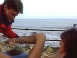 Hawt lifeguard gets her large pointer sisters licked on the beach thn acquires gangbanged