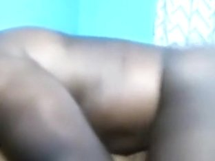 Busty african girl lets her bf suck on her tits and fuck her missionary