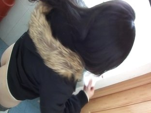 Petite asian brunette hidden piss cam