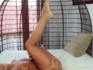 Sexy Olivia Hot masturbates with realistic sex toy