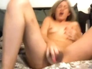 Girl fucks rubber cock - and ORGASMs!