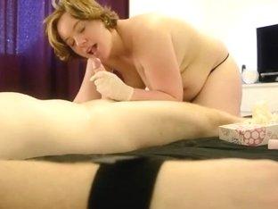 serf misbehaved, so his mistress teaches him a lesboy.