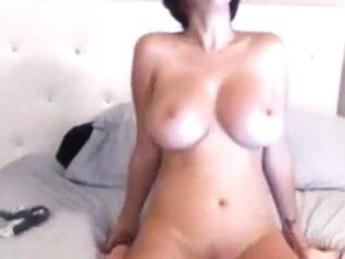 Playing with her Dildo