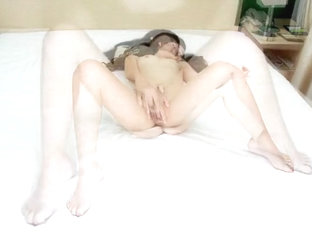 Art model of neat atmosphere in fair oozed bare and masturbation image!