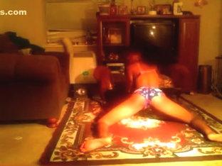 Fabulous twerking livecam non-professional movie scene