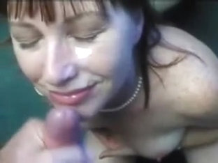 Her slavemaster cums all over her