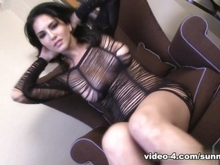 Best pornstar Sunny Leone in Hottest Masturbation, Brunette xxx movie