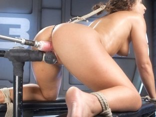 Incredible fetish, anal adult clip with fabulous pornstar Abella Danger from Fuckingmachines