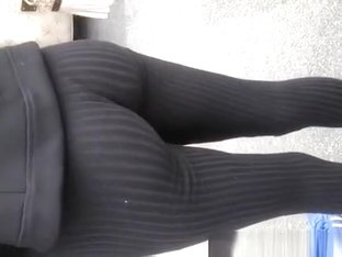 Sexy ass in tight dark pants