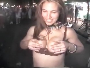 Drunk girl on a hippie party