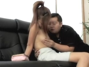 Asian slut gives a deep blowjob on a hidden camera