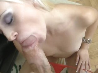 Rocco's big fat dick is sucked off by a sensual blonde