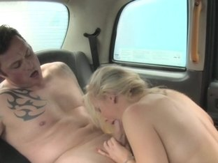 Busty british cabbie pussypounded in taxi