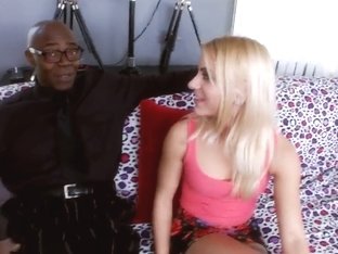 Small white girl gets her pussy fucked by black man