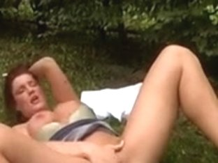 SLUTTY REDHAIR mother I'd like to fuck DRILLED OUTDOOR...usb