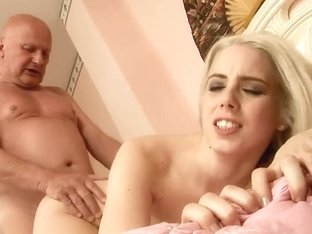 Hot old guy is licking sweet ass of Nesty