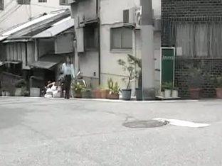 Valiant petite oriental slut walking in the public during fast sharking attack