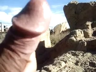 Jerking off my thick cock in public