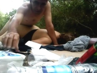 Turkish couple outdoor sex