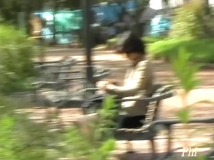 Wild skirt sharking video in a public park in Japan