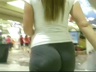 Candid cool ass tight voyeur walk hot pants in public