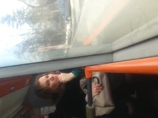 spy sexy mature face in bus romanian-haladita