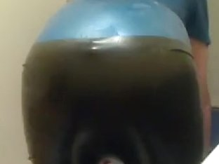 me giving myself a enema + catheter in latex rubber