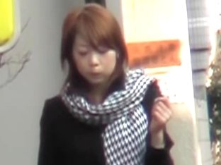 Kinky sharking of a Japanese girl in a short skirt