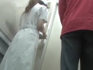 Sexy sharked nurse fantastic ass in white full back panty