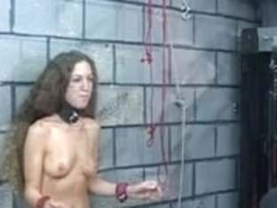 Hot youthful dark brown acquires her nipps tortured in the dungeon