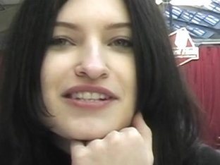 Juvenile dilettante girlfriend is barefaced for public shitter sex