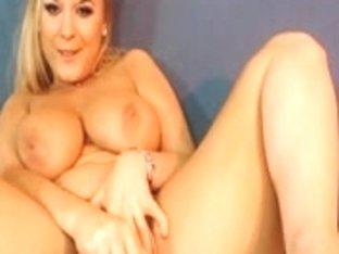Huge boobs of blonde beauty