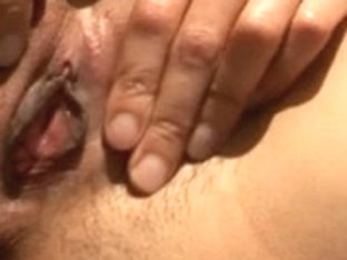 Oriental whore wife palying with her self