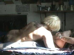 blonde chick sucking cock