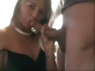 So sexy blonde ex-wife accept obedient make this lutsful blowjob to his ex