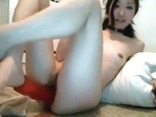 horny chick likes big dildo