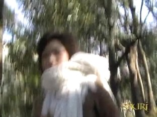 Asian gal has her panties pulled down during skirt sharking.