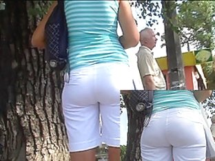 Fantastic constricted booty shorts movie scene