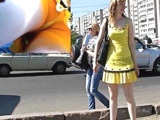 Playgirl should fix her belt up petticoat