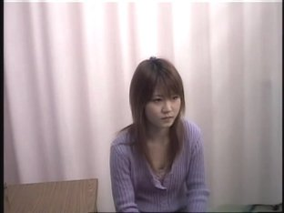 Asian girl in the hidden cam gyno medical examination