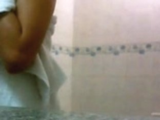 Perfect angle to record naked Japanese girls in bathrooms on cam