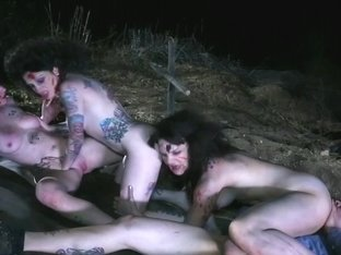 Burning Hotty Merciless Head Zombie Fucking Foursome