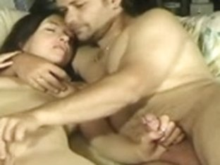 Nasty wife loves giving handjob